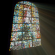Biblical stained glass — Photo