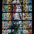 Biblical stained glass - Stock Photo