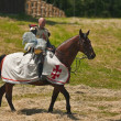 Equestrian Crusader — Stock Photo