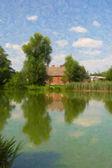 Maison de campagne de l'étang. — Photo