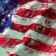American flag abstract painting background - Stock Photo