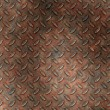 Grudge and rusted diamond metal background or template — Stock Photo