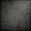 Perforated metal background — Zdjęcie stockowe #9296466