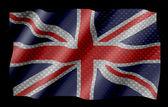 Britische flagge am kohlefaser-hintergrund — Stockfoto