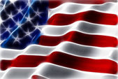 American flag abstract background — Stock Photo
