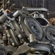 Royalty-Free Stock Photo: Stack of cast metal parts in a iron foundry