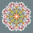 Ornamental round seamless lace pattern — Imagen vectorial
