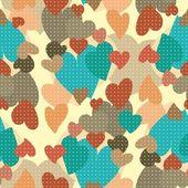 心のシームレスなパターン — ストックベクタ