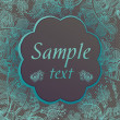 Royalty-Free Stock Imagen vectorial: Gray background with turquoise flowers. place for your text