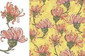 Patrón transparente brillante flor amarilla — Vector de stock