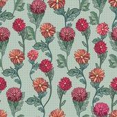 Seamless vector illustration. bright chrysanthemums — Stock Vector