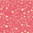 Stock Vector: Seamless texture with hearts. valentine's day