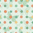 Bright Repeating Floral Background — Stock Vector #9400387