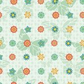 Bright Repeating Floral Background — Stock Vector