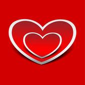 Hearts. Vector illustration. — Stock Vector