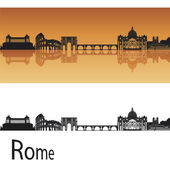 Rome Skyline — Stock Vector