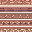 Set of seven decorative borders — Stockvektor