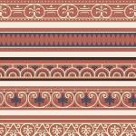 Satz von sieben dekorative Grenzen — Stockvektor