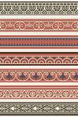 Uppsättning av sju dekorativa bårder — Stockvektor
