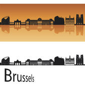 Brussels skyline — Stock Vector