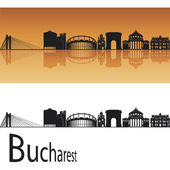 Bucharest skyline — Vettoriale Stock