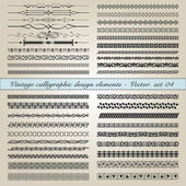Vintage calligraphic design elements — Stock Vector