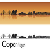 Horizonte de copenhague — Vector de stock