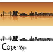 コペンハーゲンのスカイライン — ストックベクタ