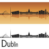 Dublin skyline — Stock Vector