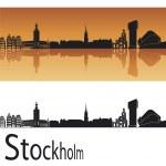 Stockholm skyline — Stock Vector #10621090
