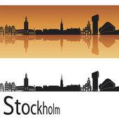 Stockholm skyline — Stock Vector