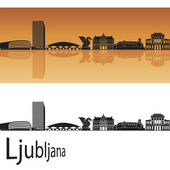 Ljubljana skyline — Stock Vector