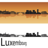 Luxembourg skyline — Stock Vector