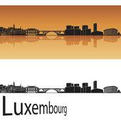 Luxembourg skyline — Stock Vector
