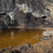 Stock Photo: Acidic waters in pyrite smelting landfill