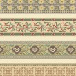 Set of four decorative borders — Stok Vektör