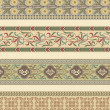 Set of four decorative borders — Imagen vectorial
