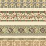 Satz von vier dekorative Rahmen — Stockvektor