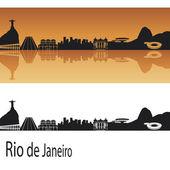 Rio de Janeiro skyline — Stock Vector