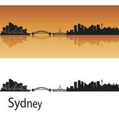 Sydney skyline — Stock Vector
