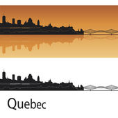 Quebec skyline — Vector de stock