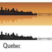 魁北克的天际线 — 图库矢量图片