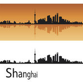 Shanghai skyline — Stock Vector