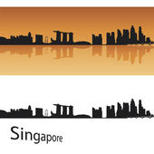 Singapore skyline — Stock Vector