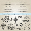 Stock Vector: Vintage calligraphic design elements