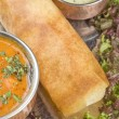 Dosa with Ingredients, South Indian Dish - Stock Photo