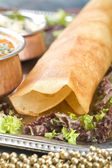 Dosa with Ingredients, South Indian Dish — Stock Photo
