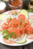 Indian food, marinated cauliflower, Gobi Tikka. — Stock Photo