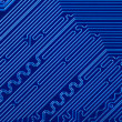 Blue electronic circuit board — Stock Photo