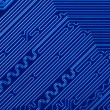 Stock Photo: Blue electronic circuit board